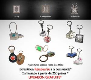 porte clés metal 2D & 3D sur mesure